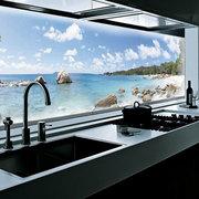 Стеклянная панель, фартук со стеклянной панелью, ремонт квартир,